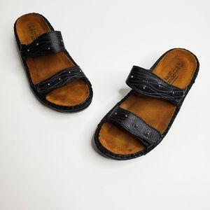 Naot Women's Slip On Sandals Open Back Leather